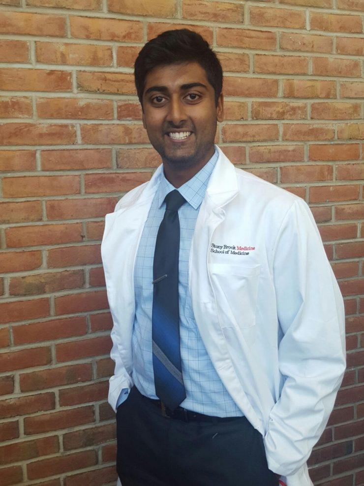Anirudh Chandrashekar at Stony Brook Medicine's White Coat Ceremony