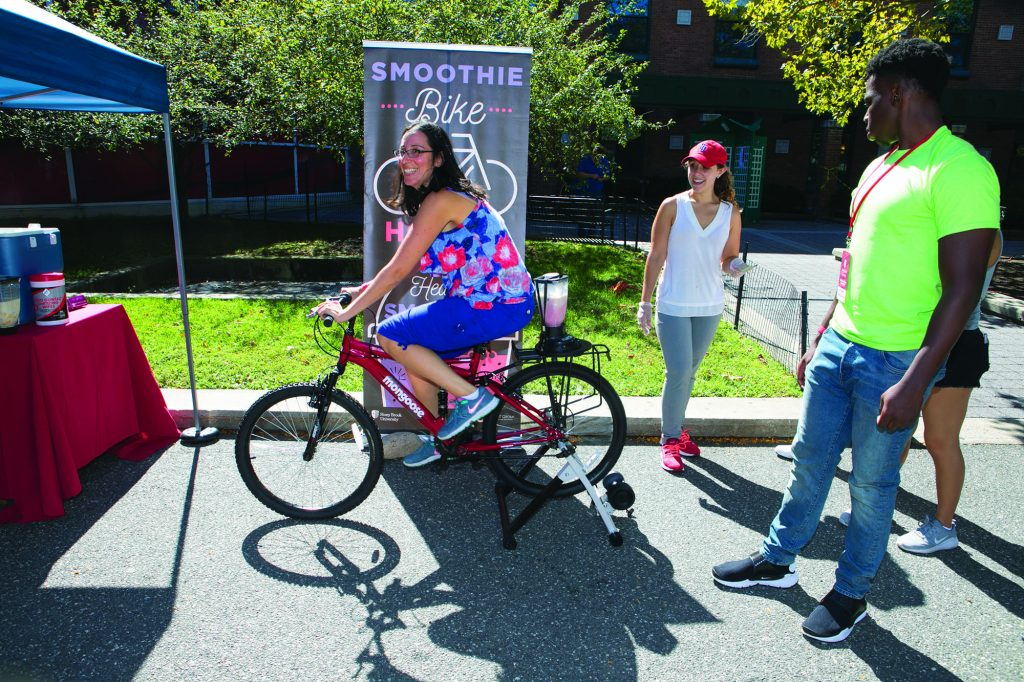 Take a ride on the Smoothie Bike