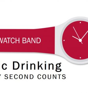 Red watch band feature