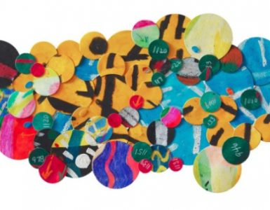 Howardena Pindell, Untitled #6F, 2009, mixed media on paper collage; courtesy of the artist and Garth Greenan Gallery, New York