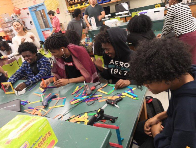 Students made photo frames in the iCreate lab.