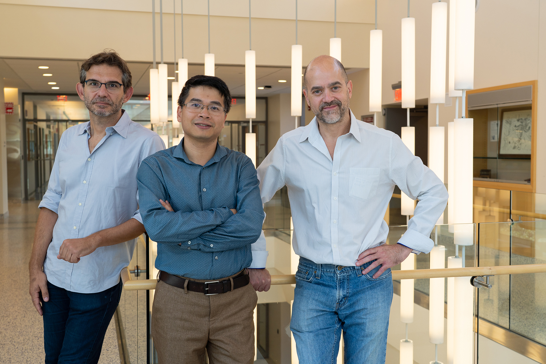 Left to right: Dimitris Samaras, Minh Hoai Nguyen and Gregory Zelinsky
