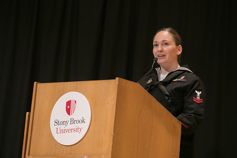 Veterans Day Ceremony Student Speaker, Petty Officer 2nd Class US Navy, Jane York '19