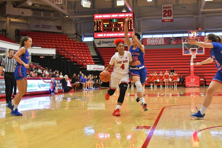 Women's Basketball Game - SBU Sweeps America East Weekly Awards