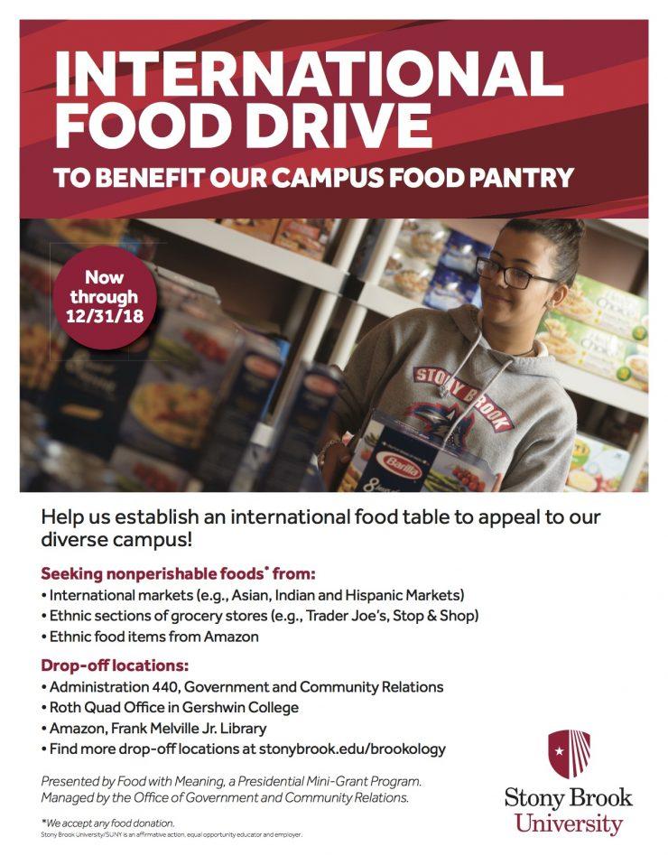 Food drive flyer
