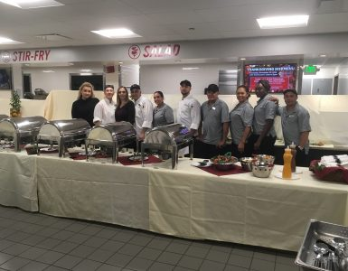 Campus Dining team at the second annual Thanksgiving Feast