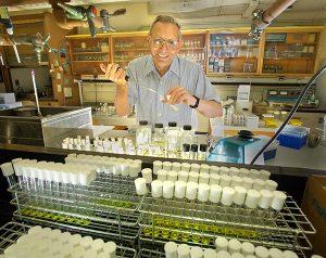 F. William Studier in his laboratory.