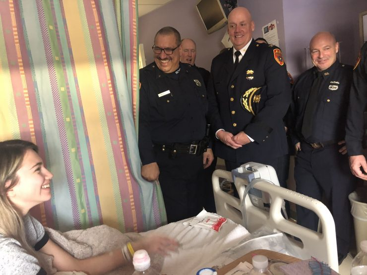 Teenage patient thanks officers