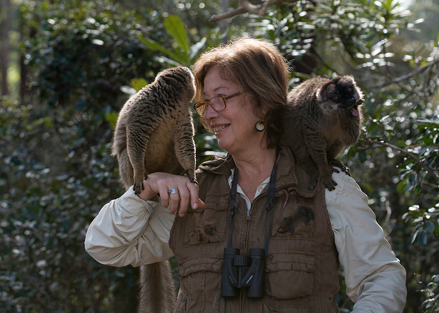 Event co-host Dr. Patricia Wright specializes in lemur biology.