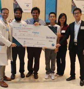 The winning EyeCanDo team