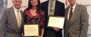Roxanne Brockner and Dale Dreuckhammer at the USATF Award Ceremony