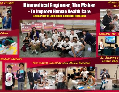 Groups from SBU participated in Maker Day at LI School for the Gifted.