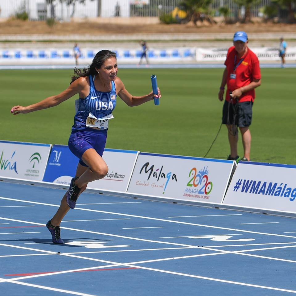 Roxanne Brockner ran the anchor leg of the 4 x 100 meter relay in Spain that took silver for Team USA.