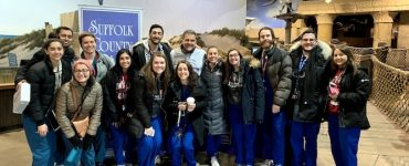 Students from the Stony Brook School of Dental Medicine at the Long Island Aquarium in Riverhead for the Give Kids A Smile event organized by Suffolk County Dental Society.