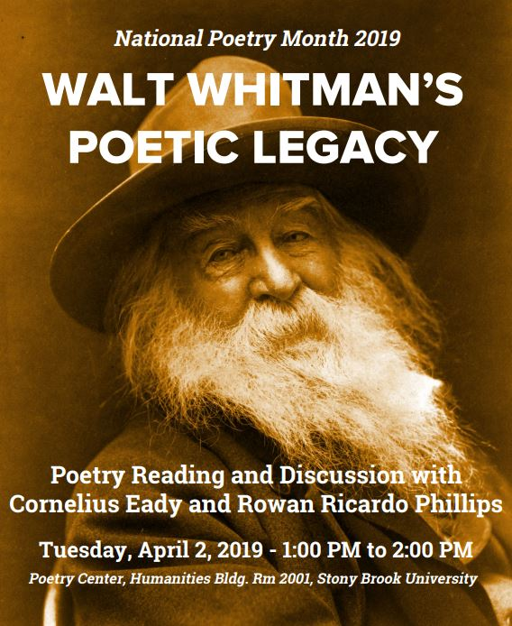 Walt whitman april event