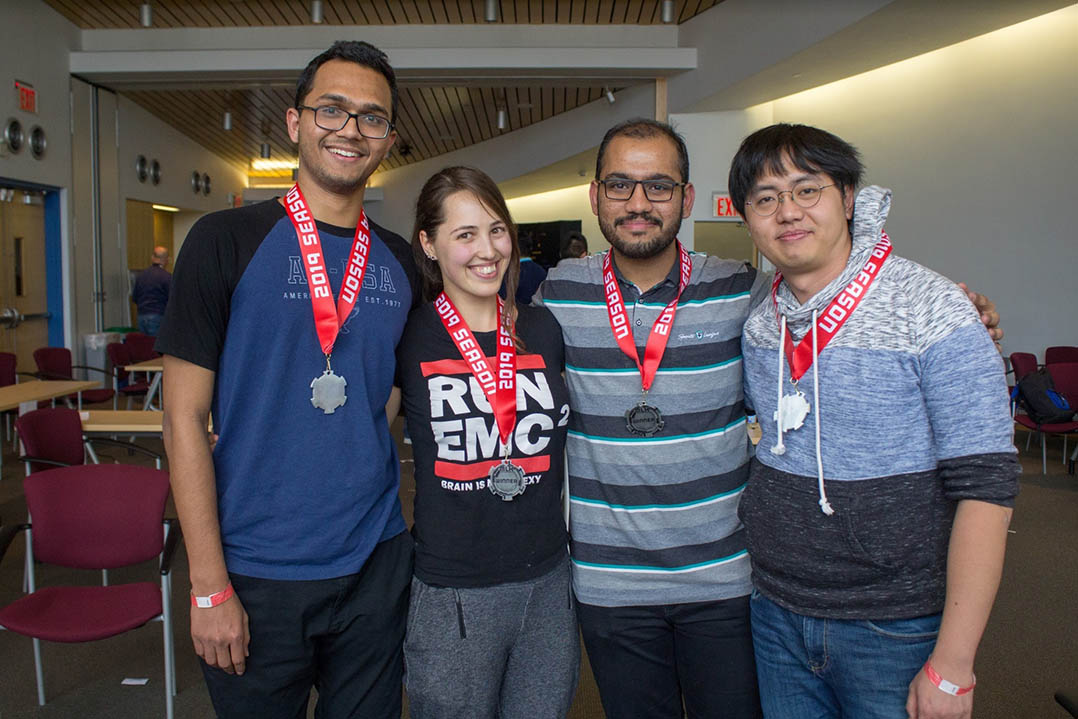 Nearly 200 student hackers competed in this year's Hack@CEWIT.