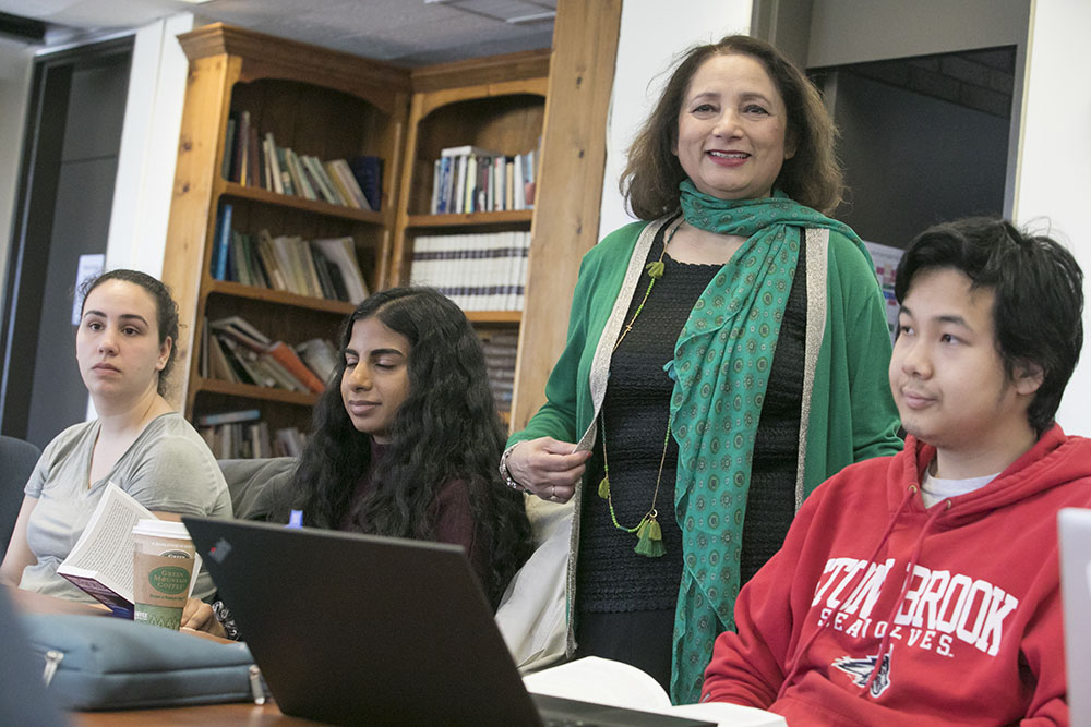 Dr. Rita Nezami with students