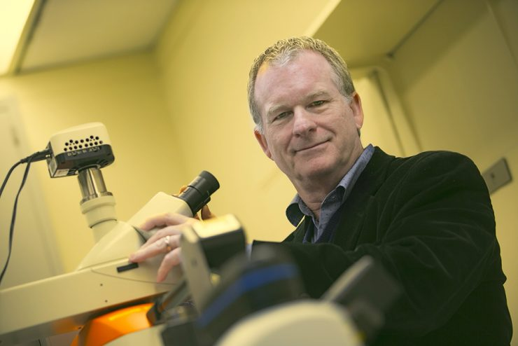 Professor Gordon Taylor in his lab