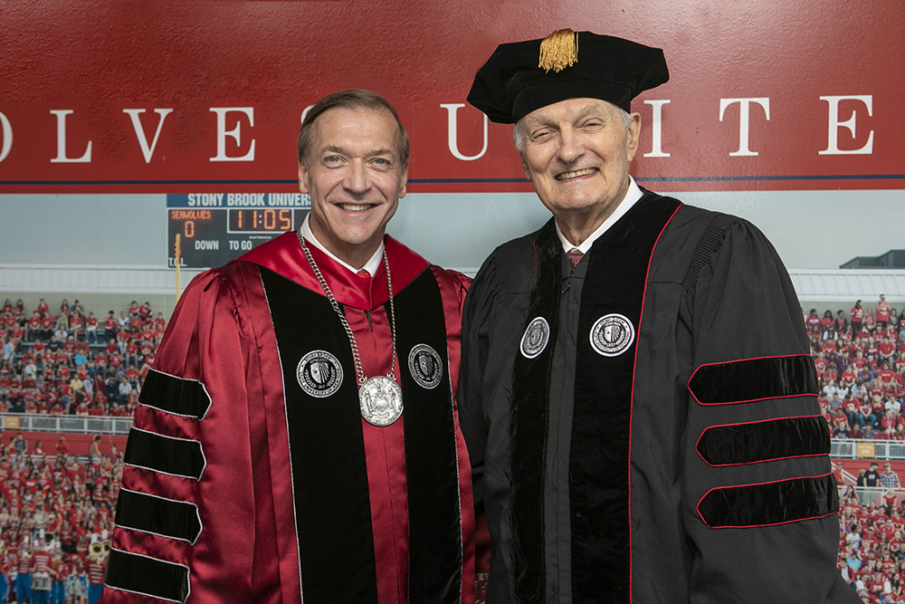 President with Alan Alda
