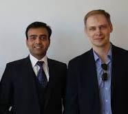 Entrepreneurial Lead Shrish Patel (left) withPrincipal Investigator Alexander Orlov