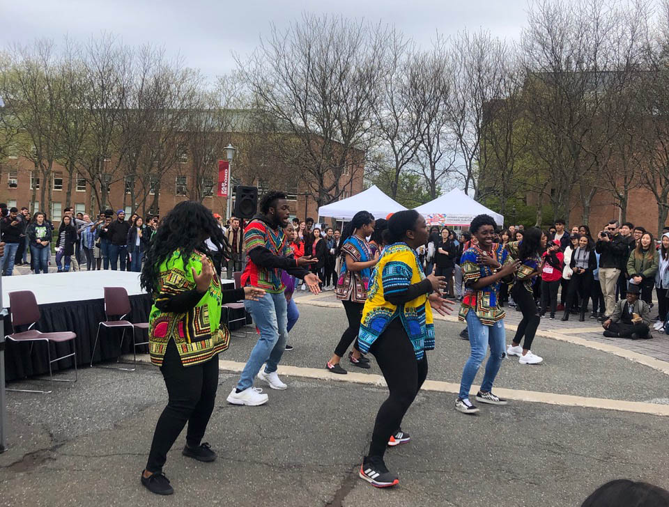 The crowd enjoyed performances by cultural student organizations that performed at the Diversity Day Cultural Showcase.