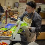 Executive Chef Jen Moyer-Murphy from Clemens Food Group showcases new menu items at the action station at Market Place Cafe.