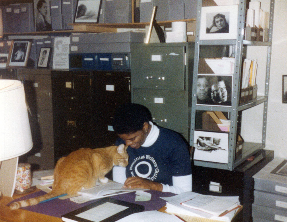 Cat at the Lesbian History Archives