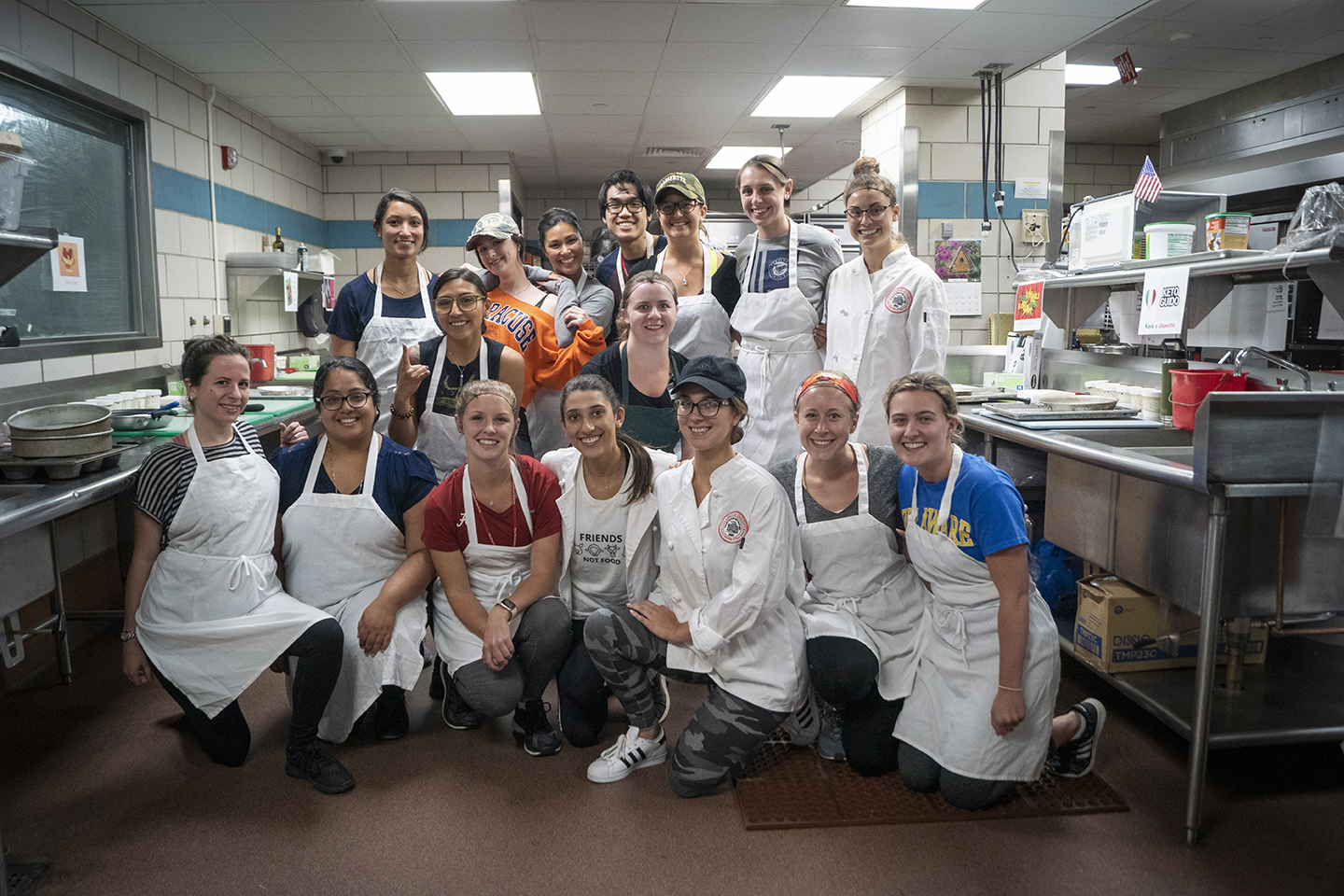 "Dietetic Interns for Renaissance School of Medicine at Stony Brook University participated in a Food Network style ""Chopped"" cooking competition in a partnership with University Hospital foodservice staff."