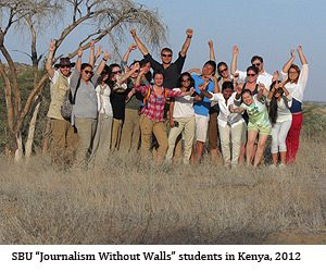 "SBU ""Journalism Without Walls"" Students in Kenya, 2012"