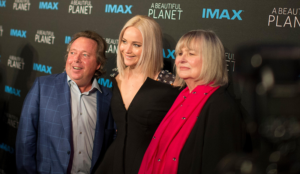 Rich Gelfond with Actress Jennifer Lawrence, Director Toni Myers