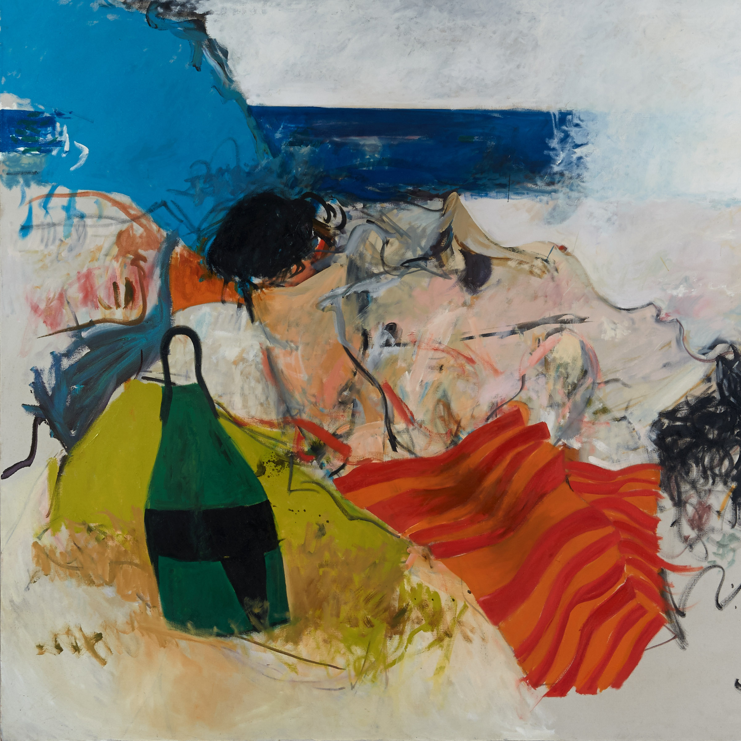 "Walter Plate, ""Georgica Beach, The Hamptons,"" 1971. oil on canvas"