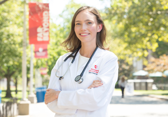 New medical student Erin Lavin