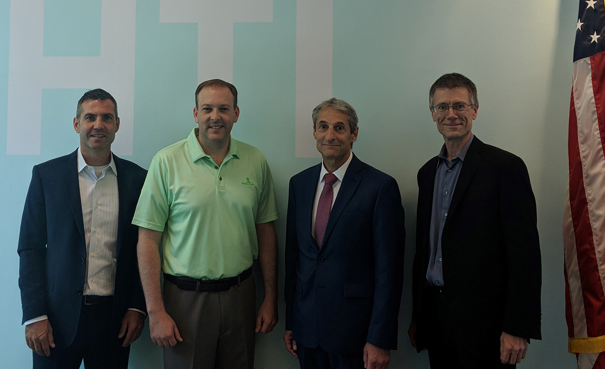 Left to right: LIHTI Executive Director and Chief Operating Officer Matthew Stadler, Rep. Lee Zeldin, Senior Vice President of Research Richard Reeder, and Associate Vice President for Technology Partnerships Peter Donnelly.