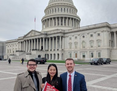Graduate Student Organization leaders on Capitol Hill
