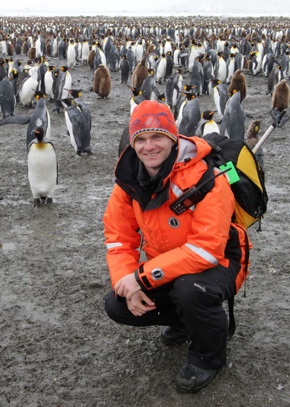 Strycker studies penguins in Antarctica