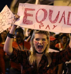 Equal Pay protest