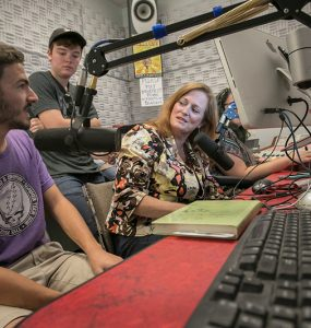 Isobel Breheny-Schafer interviews Sam Shaffery and Keaton Comiskey of the Subterraneans in the WUSB-FM studio.