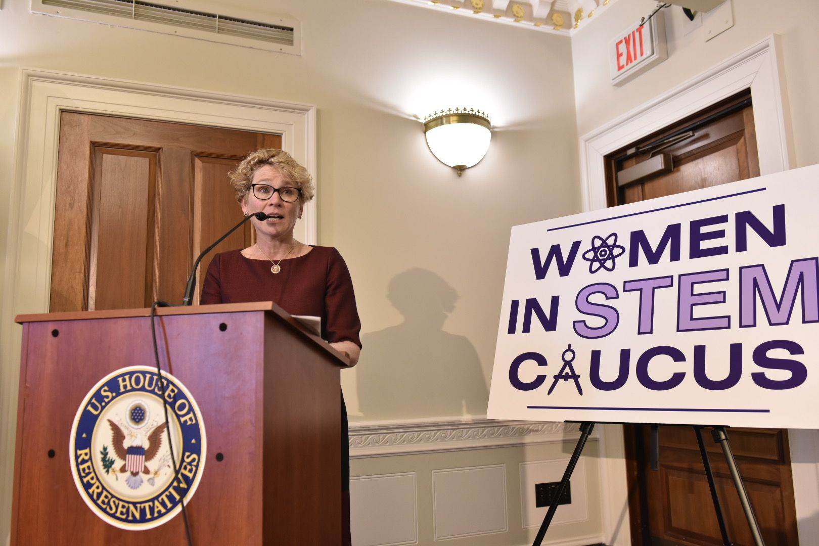 U.S. Representative Chrissy Houlahan, D-Pa., co-chaired the first Congressional Women in STEM Caucus.