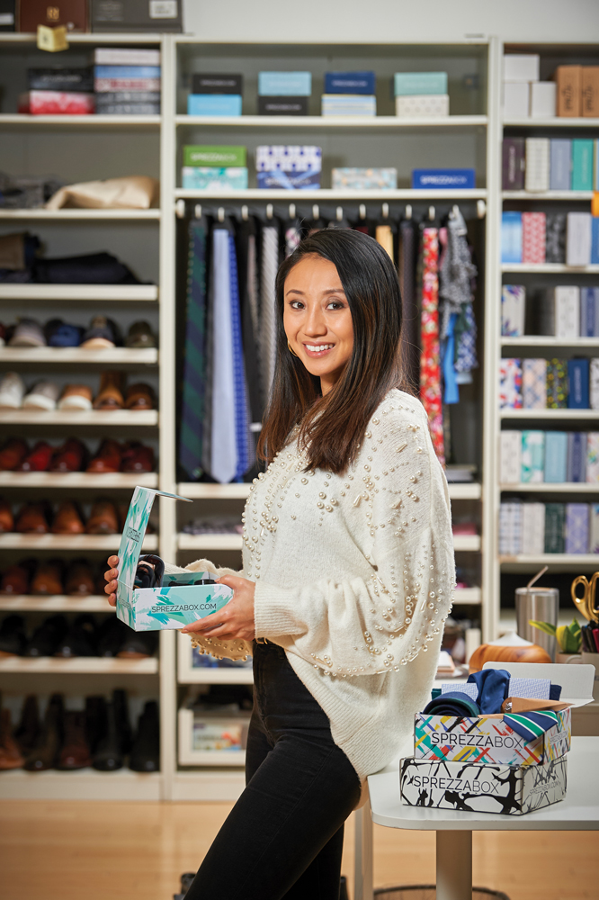 Disi Fei '08 founded SprezzaBox with SBU friends. Their subscription boxes contain menswear.