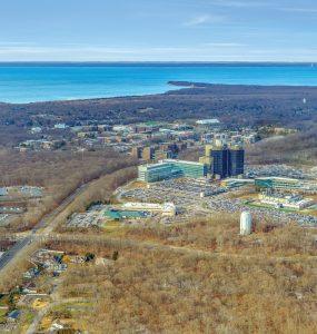 Aerial view of Stony Brook Medicine