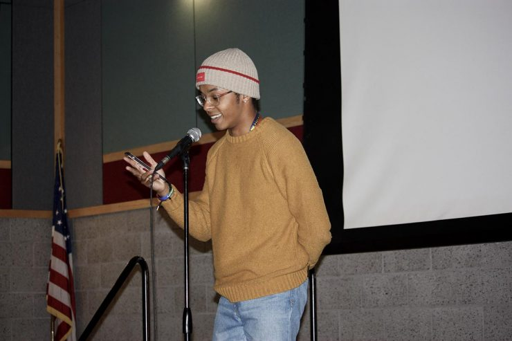 Josiah Forbes Hart was one of the winners of the Spoken Word Open Mic Contest.