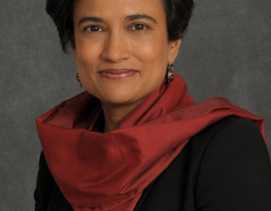 Distinguished Professor Suparna Rajaram (photo by Jeanne Neville)