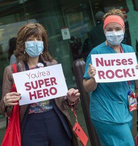 nurses arrive