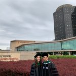 Sibling doctors Karen and Kevin Tsai following Kevin's graduation from the Renaissance School of Medicine.