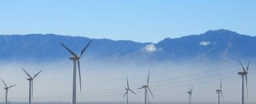 A wind energy farm in China
