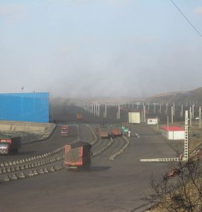A coal transfer hub near Ordos, China
