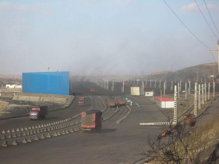 A coal transfer hub near Ordos, China