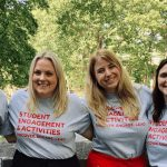 The Student Engagement and Activities professional staff (from left to right): Christine Marullo, Kevin Grunder, Samantha Thompson, Becky Seifter, Melissa Scuccimarri, Melissa Ferrin.
