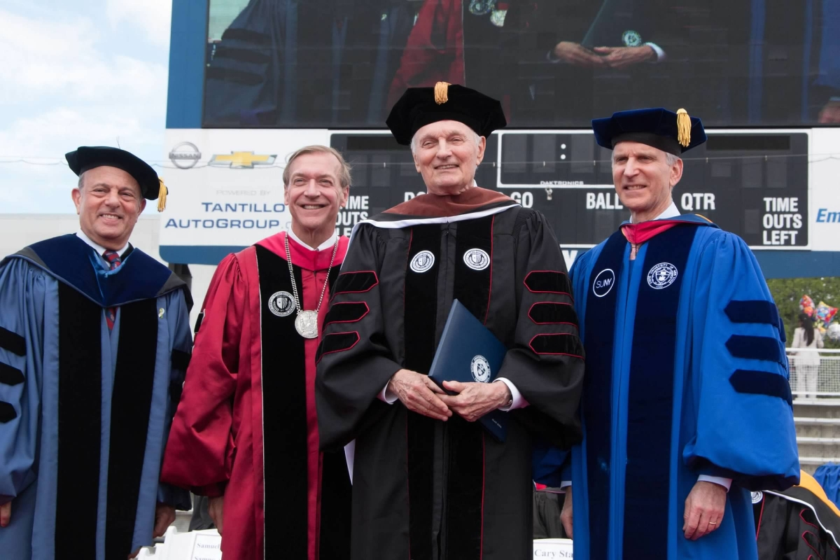 Alan Alda Honored at Stony Brook Commencement