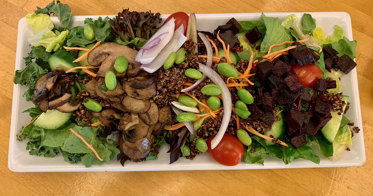 Build your own Plantiful salad with only the items you enjoy, limiting food waste and saving additional plastic containers from the landfill.